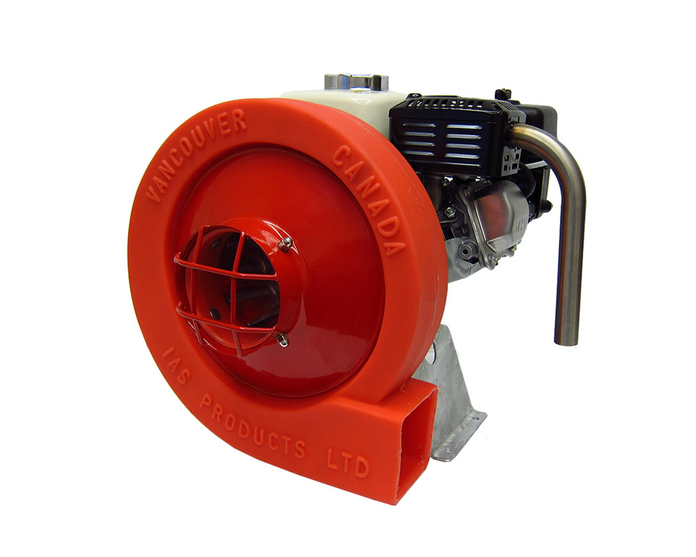 compact direct drive fish feed blower