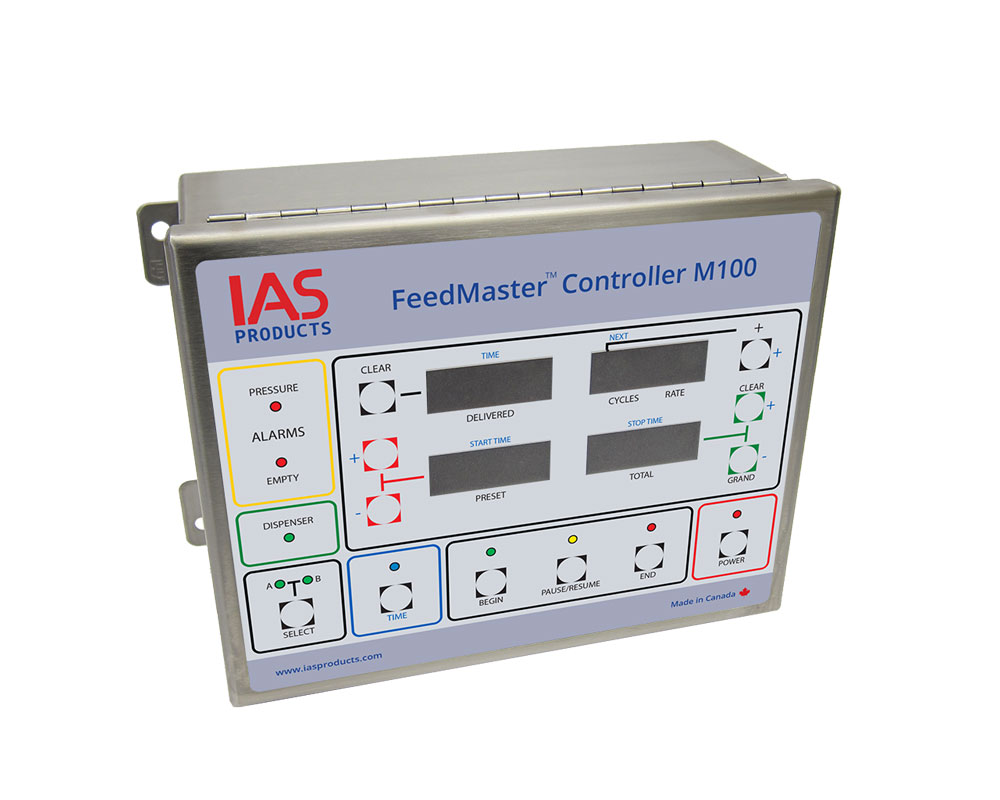 fish feed delivery quantity recorder and controller