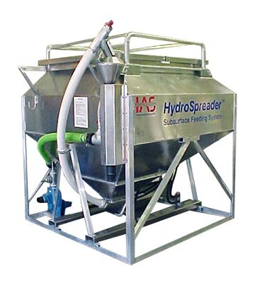 HydroSpreader fish or shrimp feeder that feeds underwater