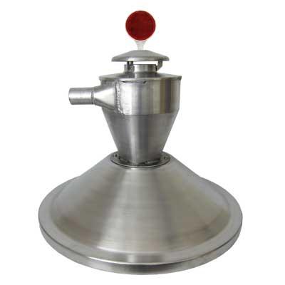 Aerite Cyclonic Decelerator mounted on hopper lid