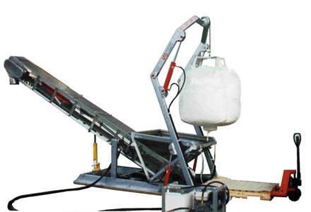 hydraulic bulk feed loader with conveyor