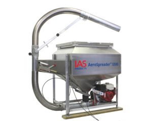 AeroSpreader S500 aquaculture feeder with manual periscope feed head and feed extension tube