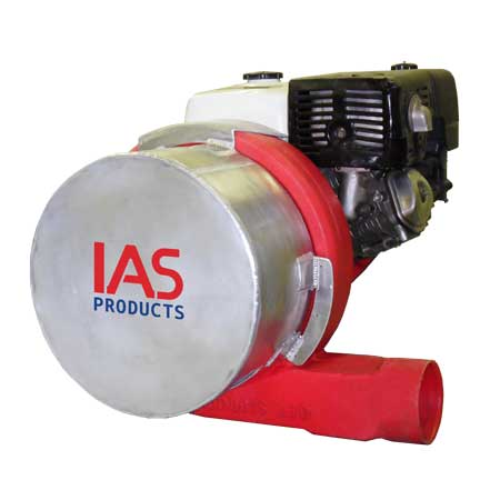 aquaculture feed blower with inlet silencer
