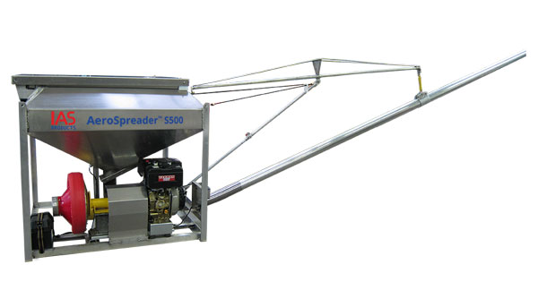 AeroSpreader S500 with diesel motor and feed extension boom