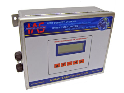 Aquaculture light controller in a stianless steel enclosure