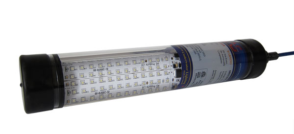 LED aquaculture light short with double panel circuit board